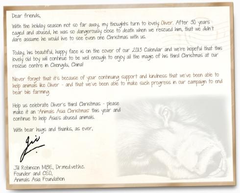 Jill's letter