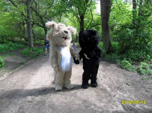 Eddie and Moonie at the Hampstead Heath Walk for Freedom 2012